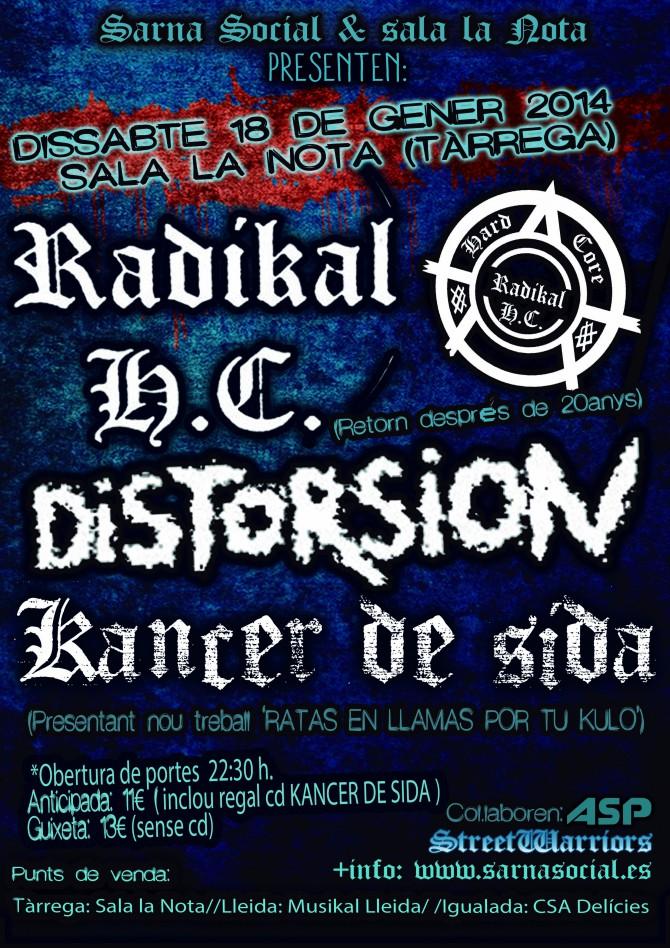 RADIKAL HC + DISTORSIÓN + KANCER DE SIDA