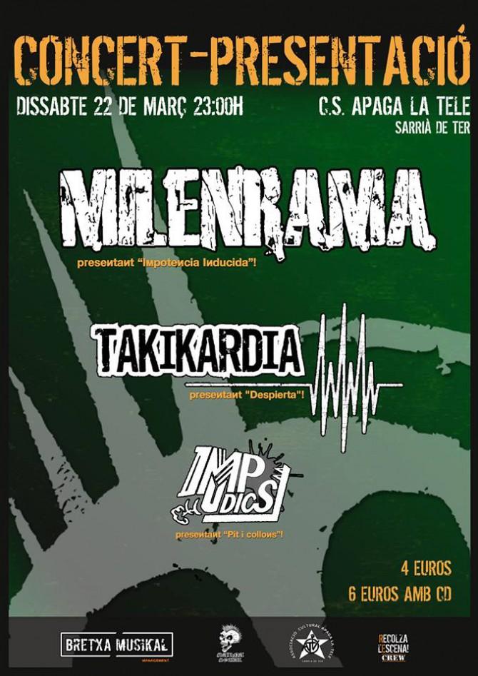 Koncierto presentación MILENRAMA 'Impotencia Inducida'+TAKIKARDIA+IMPUDICS